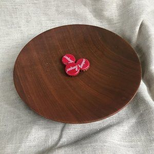 Handmade Solid Wood Serving or decorative plate